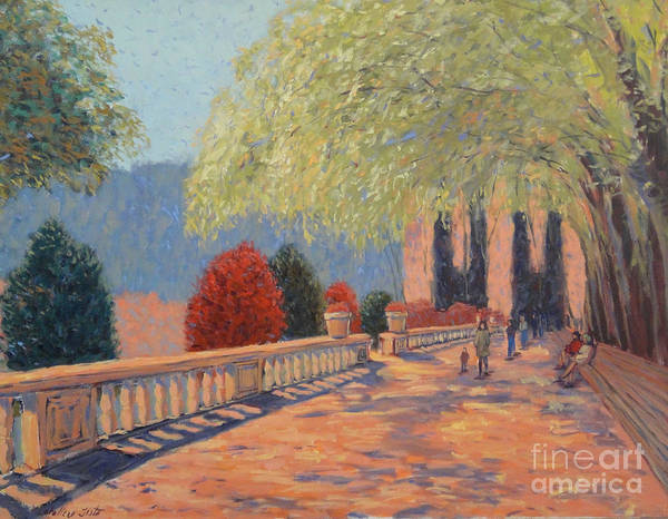 Landscape Poster featuring the painting Manhattan Park by Monica Caballero