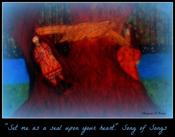 Song Of Songs Poster featuring the pastel Meditation Number 3 Song Of Songs by Maryann DAmico