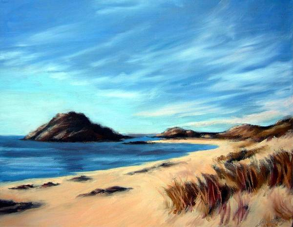 Havik Beach Poster featuring the painting Havik Beach by Janet King