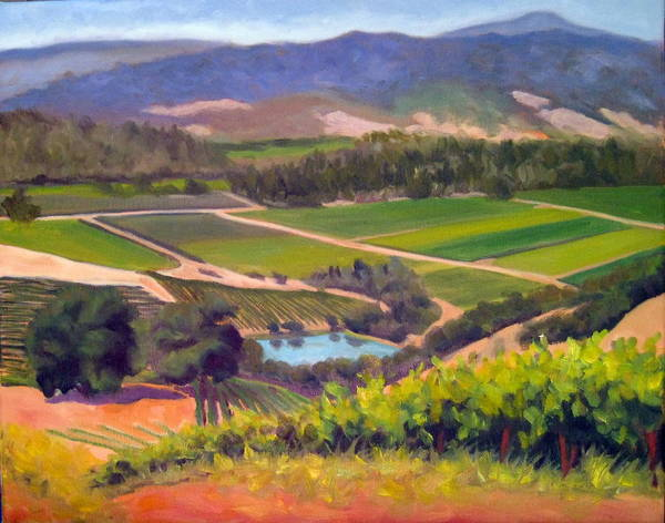 Vineyards Poster featuring the painting On The Top by Char Wood