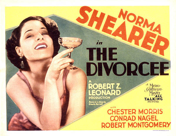1930 Movies Poster featuring the photograph The Divorcee, Norma Shearer, 1930 by Everett