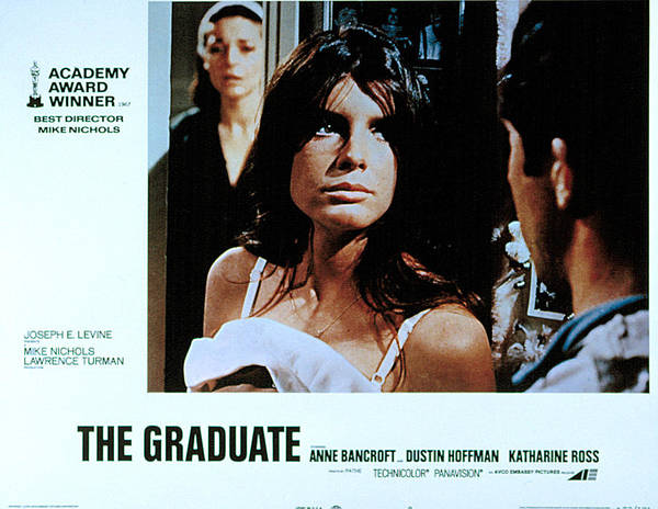 1960s Movies Poster featuring the photograph The Graduate, Anne Bancroft, Katharine by Everett