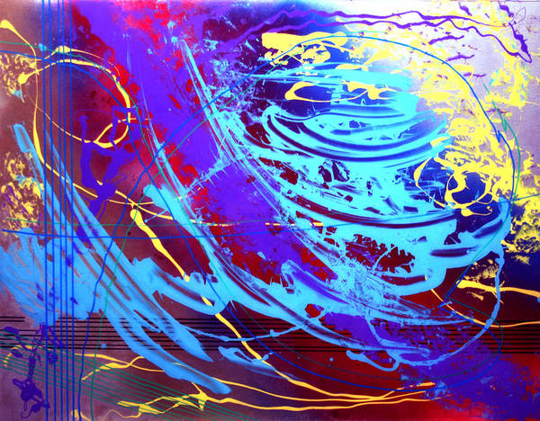 Abstract Poster featuring the painting Blue Reverie by Mordecai Colodner