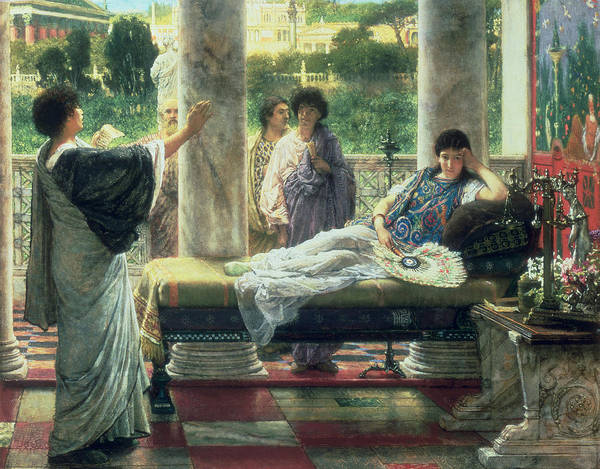 Catullus Reading His Poems Poster featuring the painting Catullus Reading His Poems by Sir Lawrence Alma Tadema