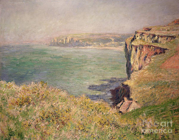Cliff Poster featuring the painting Cliff At Varengeville by Claude Monet