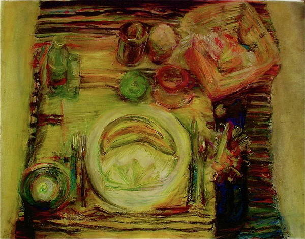 Still Life Poster featuring the drawing Color Study February by Jana Barros