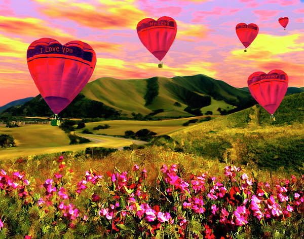 Balloons Poster featuring the photograph Come Fly With Me by Kurt Van Wagner