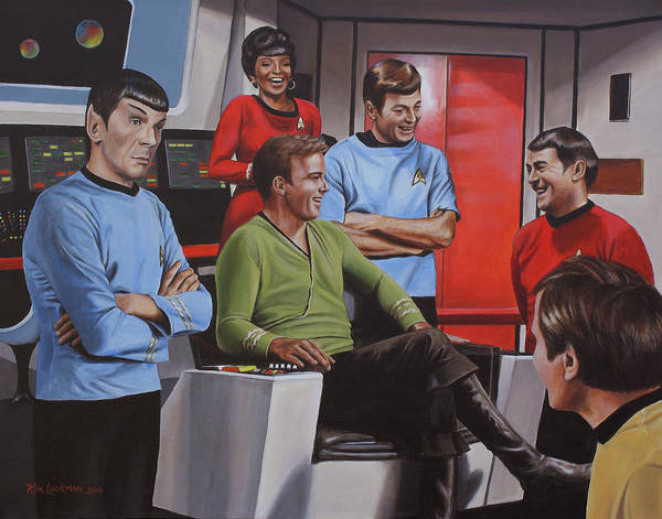 Star Trek Poster featuring the painting Comic Relief by Kim Lockman