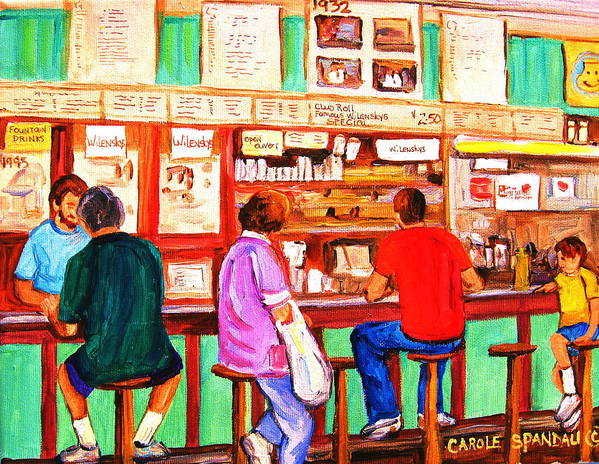 Montreal Poster featuring the painting Counter Culture by Carole Spandau