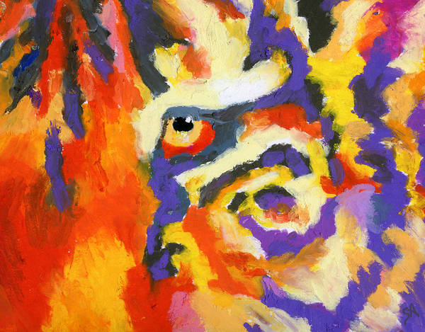 Tiger Poster featuring the painting Eye Of The Tiger by Stephen Anderson