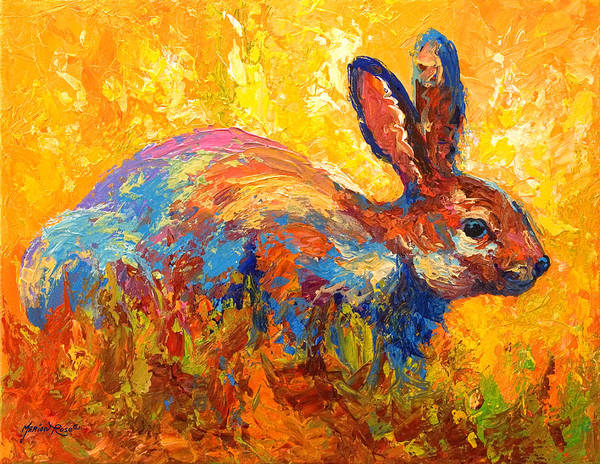 Rabbit Poster featuring the painting Forest Rabbit II by Marion Rose