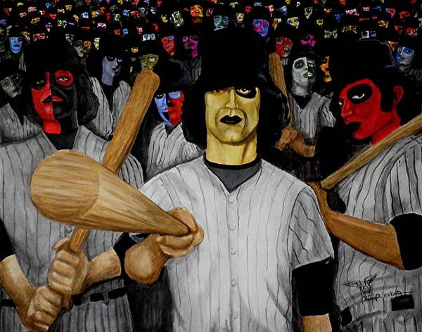 Baseball Poster featuring the painting Furies Up To Bat by Al Molina