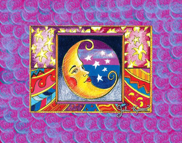 La Luna Poster featuring the drawing La Luna 1 by John Keaton