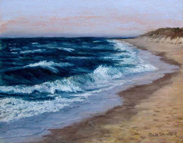 Ocean Poster featuring the painting Late Spring At Cold Storage Beach by Jack Skinner