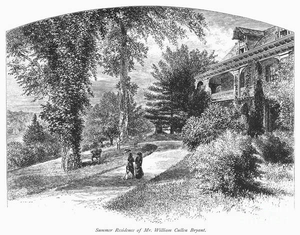 1876 Poster featuring the photograph Long Island: Summer Home by Granger