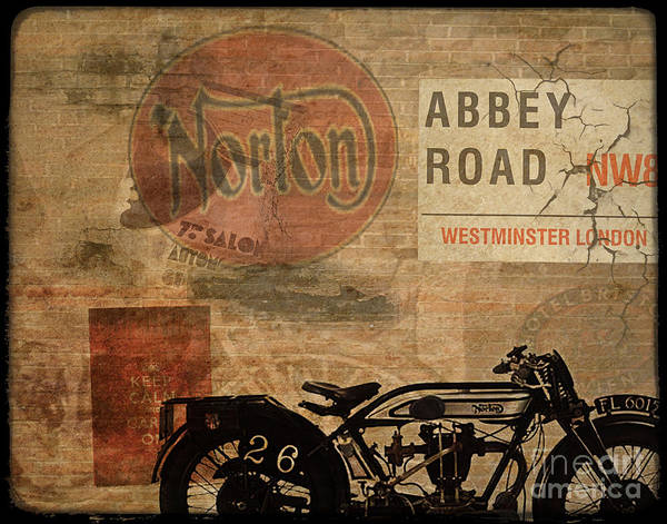 Vintage Poster featuring the painting Norton by Cinema Photography
