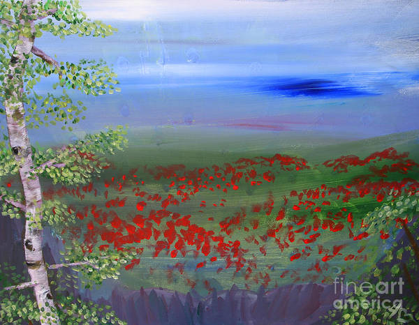 Poppies Poster featuring the painting Poppy Valley by Jamie Hartley
