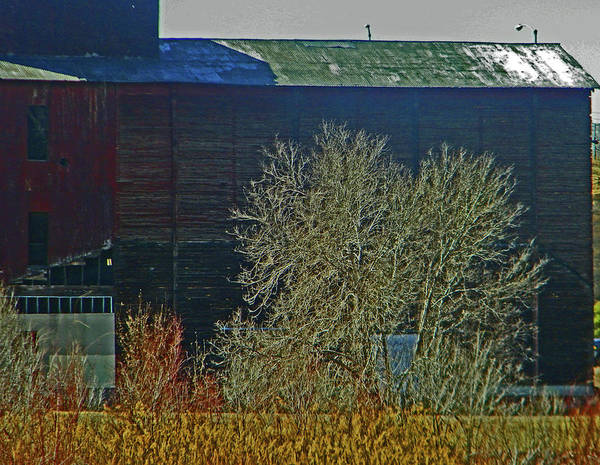 Abstract Poster featuring the photograph Pueblo Downtown-sweeny Feed Mill 6 by Lenore Senior