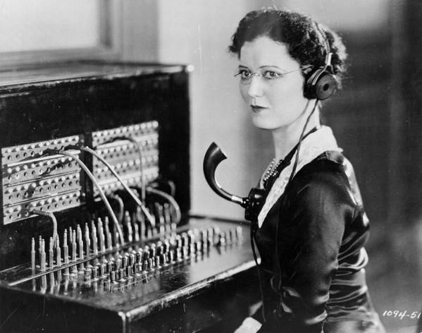 Mid Adult Poster featuring the photograph Telephone Operator by General Photographic Agency