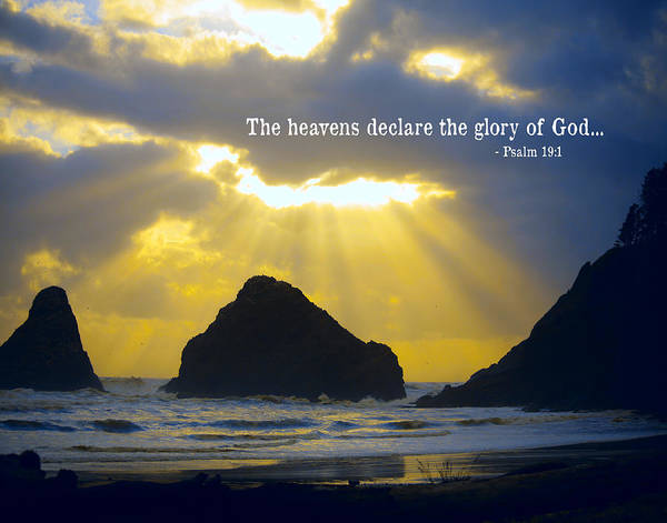 Heceta Head Poster featuring the photograph The Heavens Declare by Bonnie Bruno