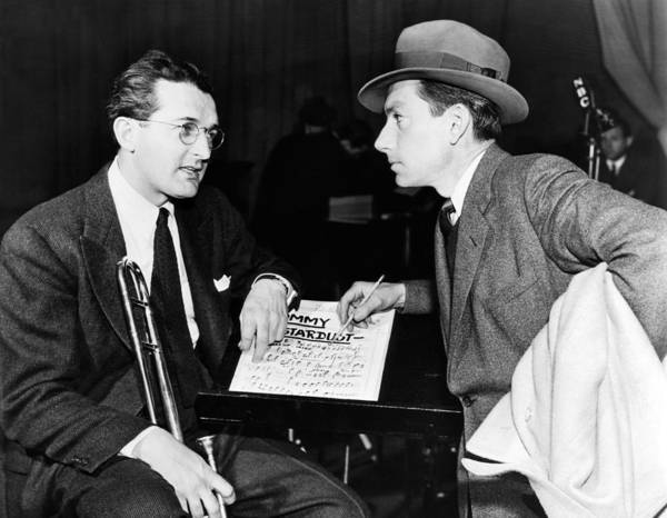 1930s Candid Poster featuring the photograph Tommy Dorsey And Hoagy Carmichael, 1939 by Everett