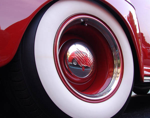 Classic Car Poster featuring the photograph Wheel Reflection by Carol Milisen