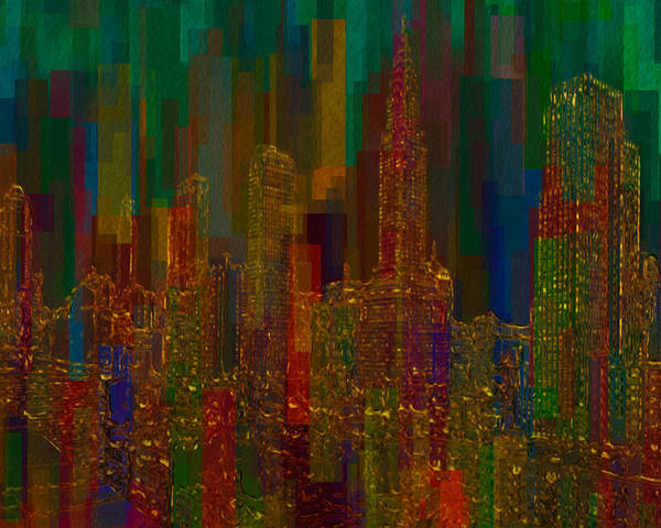 City Poster featuring the painting Cityscape 5 by Jack Zulli