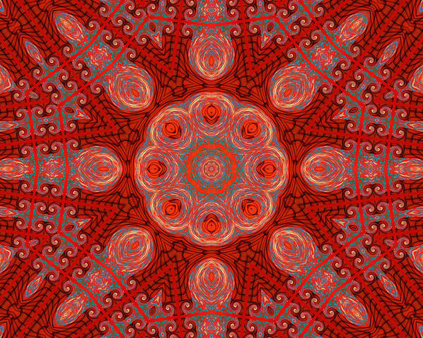 Kaleidoscope Poster featuring the digital art Bliss In The Formal Gardens by Wendy J St Christopher