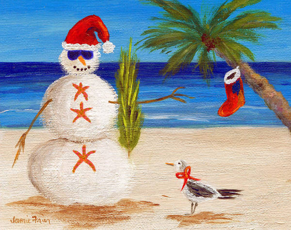 Christmas Poster featuring the painting Christmas Sandman by Jamie Frier