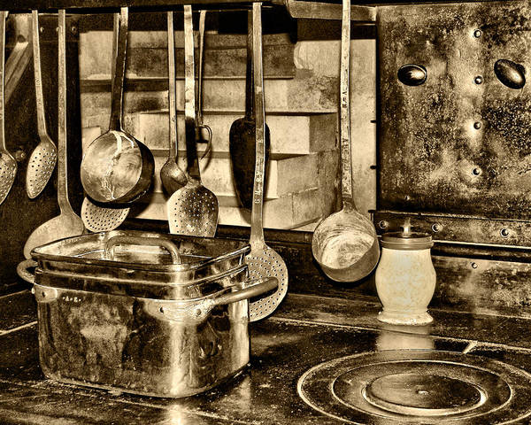 Kitchen Utensils Poster featuring the photograph Cuisine At Chenonceau by Nikolyn McDonald
