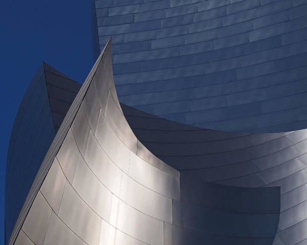 Walt Disney Concert Hall Poster featuring the photograph Disney Hall Abstract by Rona Black