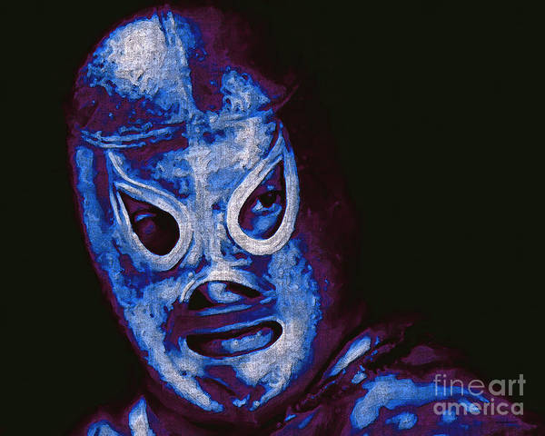 El Santo Poster featuring the photograph El Santo The Masked Wrestler 20130218m168 by Wingsdomain Art and Photography