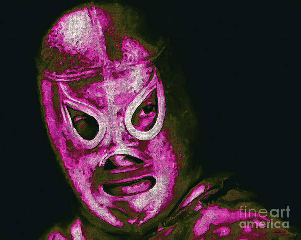 El Santo Poster featuring the photograph El Santo The Masked Wrestler 20130218m68 by Wingsdomain Art and Photography