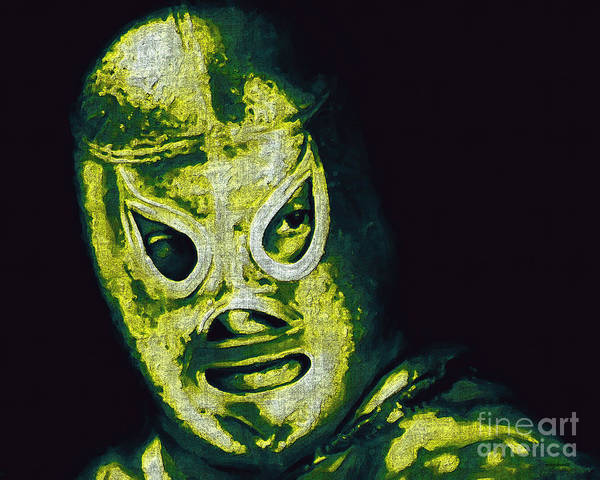 El Santo Poster featuring the photograph El Santo The Masked Wrestler 20130218p39 by Wingsdomain Art and Photography