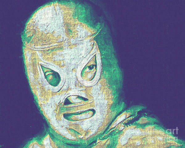 El Santo Poster featuring the photograph El Santo The Masked Wrestler 20130218v2 by Wingsdomain Art and Photography