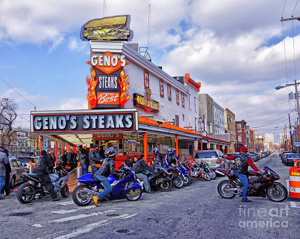 Geno's Poster featuring the photograph Geno's 3 by Jack Paolini