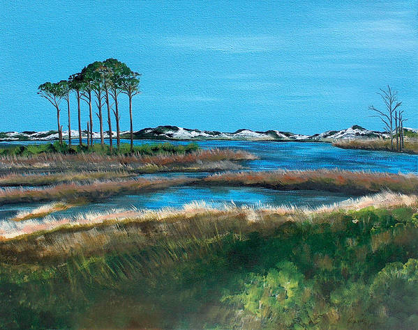 Grayton Beach State Park Poster featuring the painting Grayton Beach State Park by Racquel Morgan