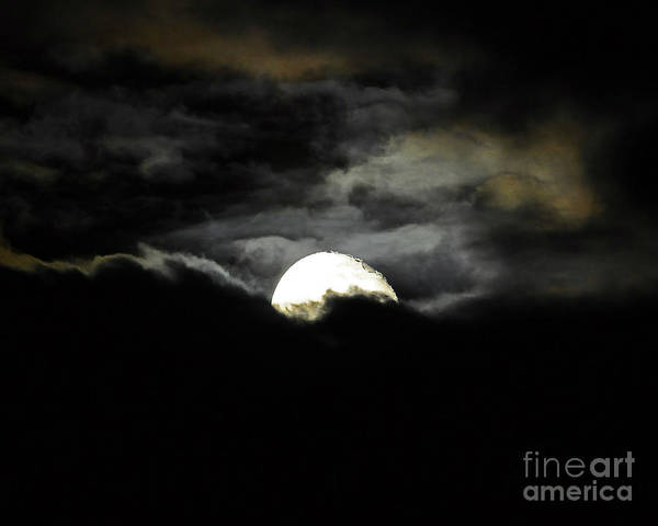 Moon Poster featuring the photograph Haunting Horizon 02 by Al Powell Photography USA