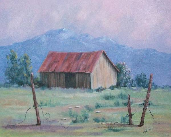 Landscape Poster featuring the painting Homestead by Marcea Clive