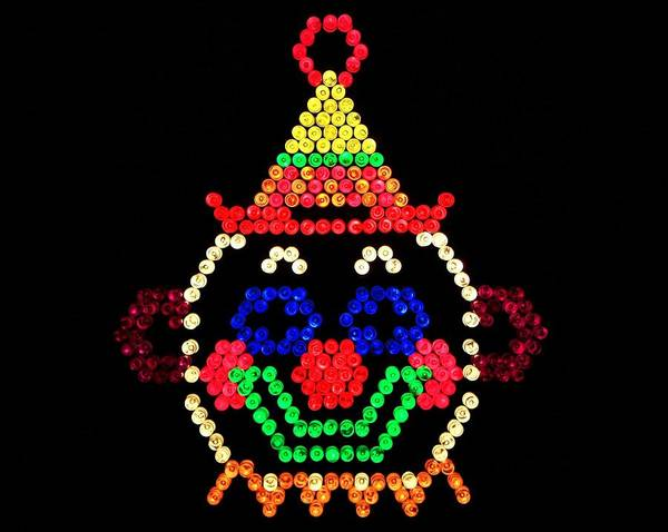 Nostalgia Poster featuring the photograph Lite Brite - The Classic Clown by Benjamin Yeager