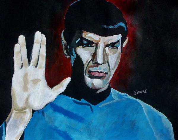 Spock Poster featuring the painting Live Long And Prosper by Jeremy Moore