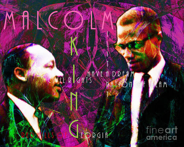 People Poster featuring the photograph Malcolm And The King 20140205m68 With Text by Wingsdomain Art and Photography