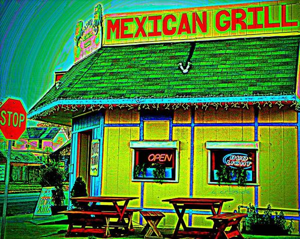 Restaurant Poster featuring the photograph Mexican Grill by Chris Berry