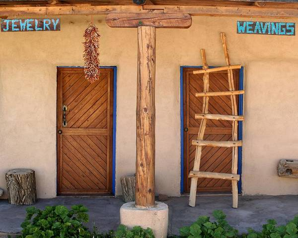 Adobe Poster featuring the photograph New Mexico Shop Fronts by Heidi Hermes