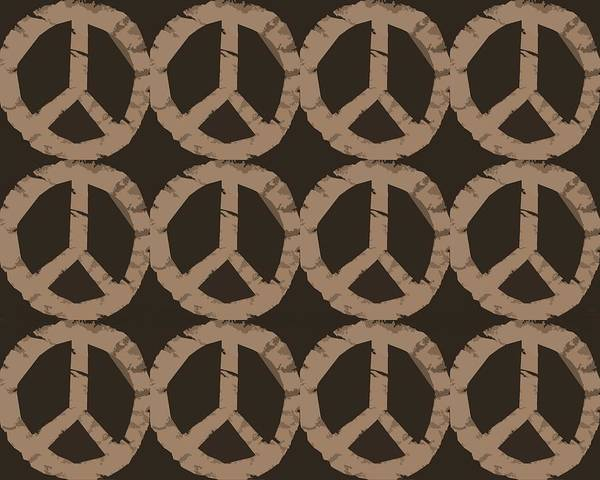 Peace Poster featuring the photograph Peace Symbol Collage by Michelle Calkins