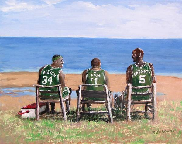Boston Poster featuring the painting Reminiscing The Good Old Days by Jack Skinner