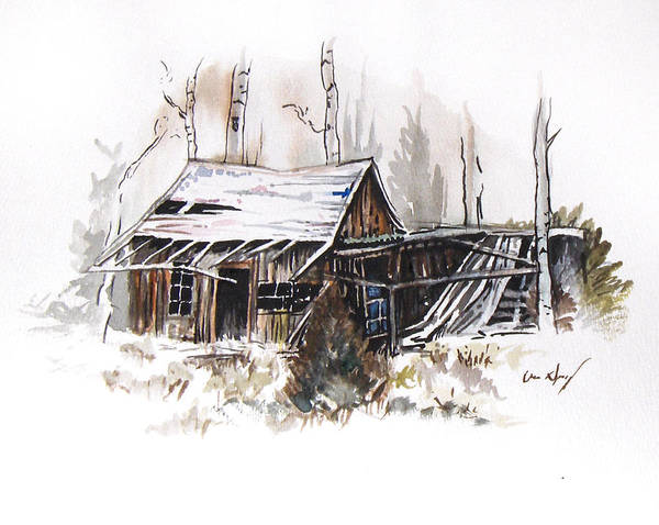 Shack Poster featuring the painting Shack by Aaron Spong