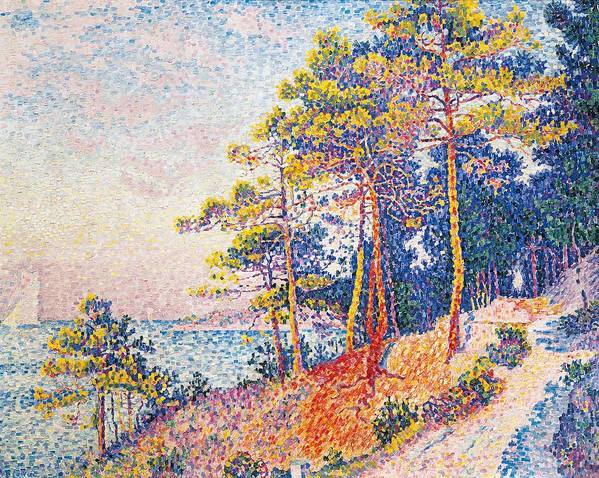 Art Poster featuring the painting St Tropez The Custom's Path by Paul Signac