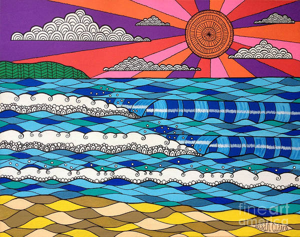 Waves Poster featuring the digital art Summer Vibes by Susan Claire