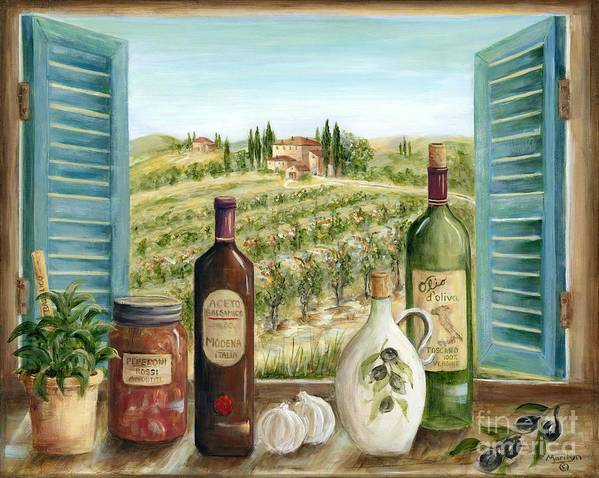 Tuscany Poster featuring the painting Tuscan Delights by Marilyn Dunlap